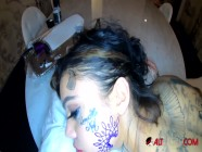 Genevieve Sinn pounded while getting her face tattooed