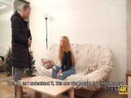 DEBT4k. Lucky guy can use redhead as a whore because she has debts