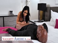 Naughty America Tia Cyrus has permission from husband to fuck whomever