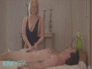 Kinky Spa - Smoking Blonde Kate England Loves Riding Big Dick After Giving A Massage