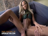 Sexy roommate Romy Indy tries to seduce you from your girlfriend