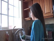 LOLA FOXX GETS TAUGHT A LESSON BY HER STEP MOMMY WHILE ON HER KNEES