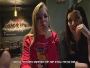 I pick up two sisters in a bar, fucked and cum in throat