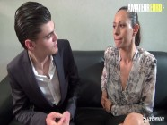 LaCochonne - Audrey Choupa French MILF Banged In Her Pussy And Ass By Hot Stud - AMATEUREURO