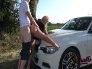 British Slut Elle Brooke Ass Fucked over BMW