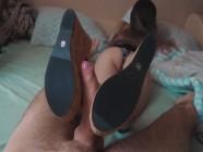 Soft Sideways Footjob and ShoeJob High Heels - Xxximmy