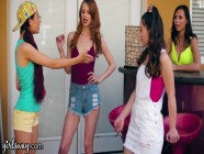 GIRLSWAY Mean Girl Jillian & Her Squad Fuck The New Hot Chick at School