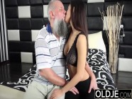Big natural tits asian gets fucked in her pussy and mouth by grandpa