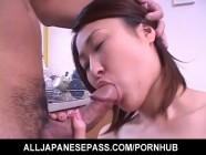 Kokoro Miyauchi Asian milf is sexy maid enjoying tits licked and fucked before her shaved pussy is l